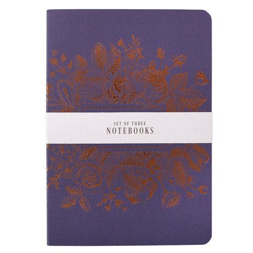 Strength and Dignity Medium Notebook Set in Blues - Proverbs 31:25