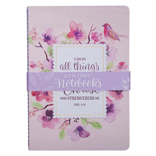 Floral Inspirations Medium Notebook Set - Philippians 4:13
