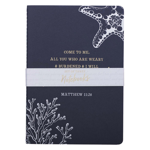Give You Rest Medium Notebook Set - Matthew 11:28