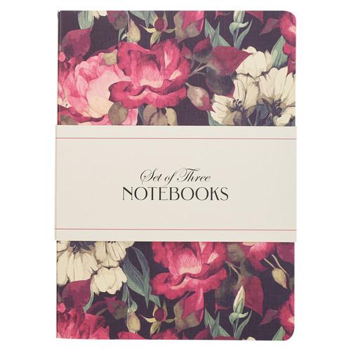 Be Still Vintage Floral Large Notebook Set - Psalm 46:10