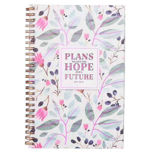 Plans To Give You Hope Wirebound Notebook - Jeremiah 29:11