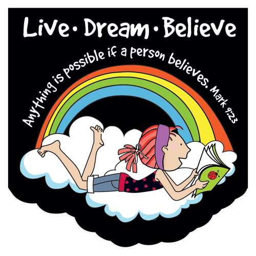 LaeDee Bugg: Live Dream Believe Mini Notepad - Mark 9:23