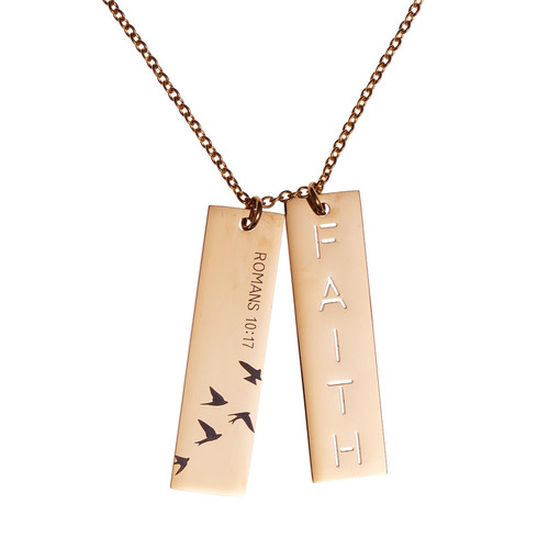 Faith Double Bar Necklace