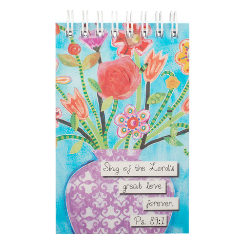 Floral Blessings Notepad - Ps 89:1