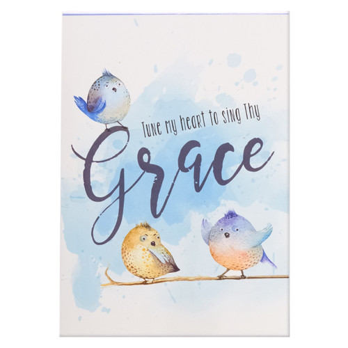 Tune My Heart to Sing Thy Grace Illustrated Pet Notepad