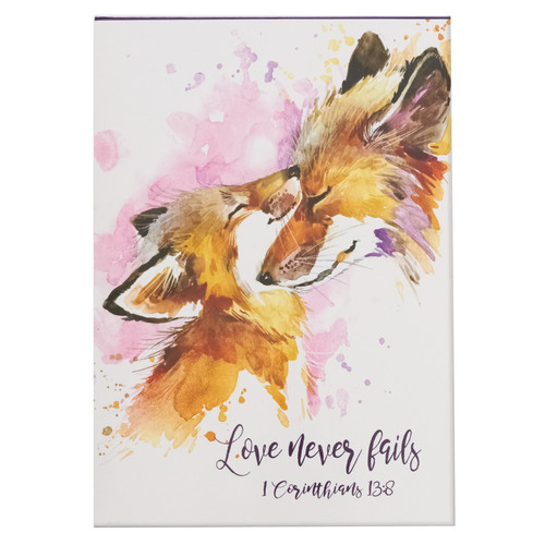 Love Never Fails Illustrated Pet Notepad - 1 Corinthians 13:8