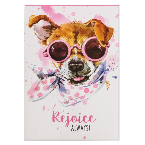 Rejoice Always Illustrated Pet Notepad