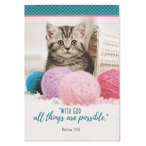 All Things Are Possible - Matthew 19:26 Pet Notepad