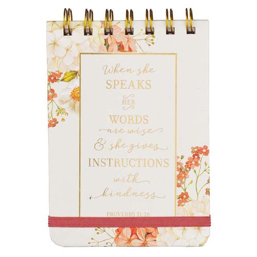 When She Speaks Wirebound Notepad - Proverbs 31:26