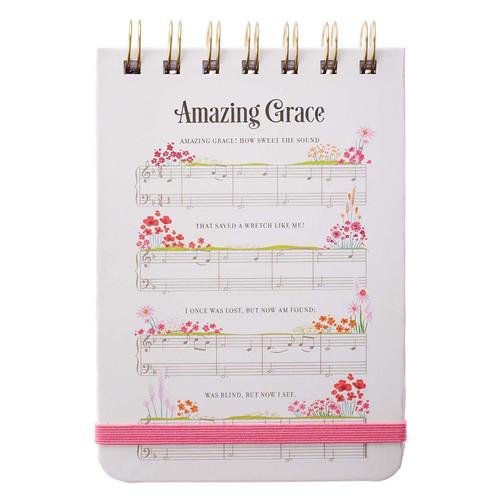 Amazing Grace Sheet Music Wirebound Notepad