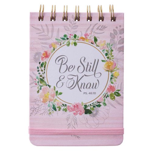 Be Still & Know Pink Wirebound Notepad - Psalm 46:10