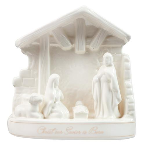Porcelain Christmas Nativity: Christ Our Savior Is Born