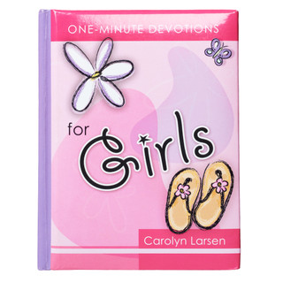 For Girls by Carolyn Larsen - Hardcover One Minute Devotions