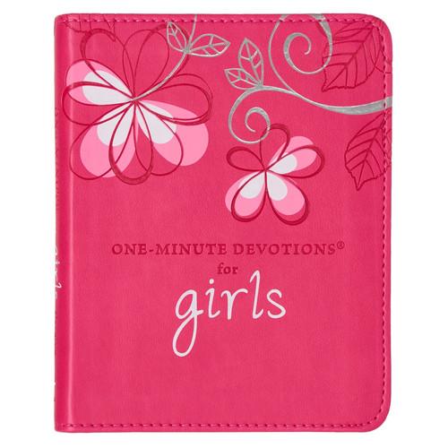 For Girls by Carolyn Larsen - LuxLeather One Minute Devotions