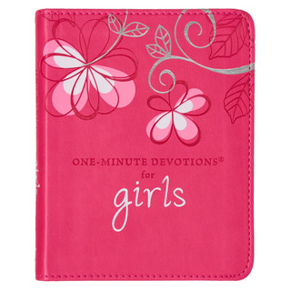For Girls by Carolyn Larsen - LuxLeather One Minute Devotions