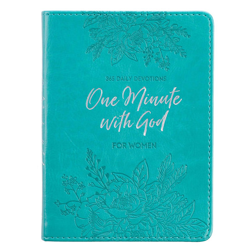 One Minute With God For Women Teal Faux Leather Devotional