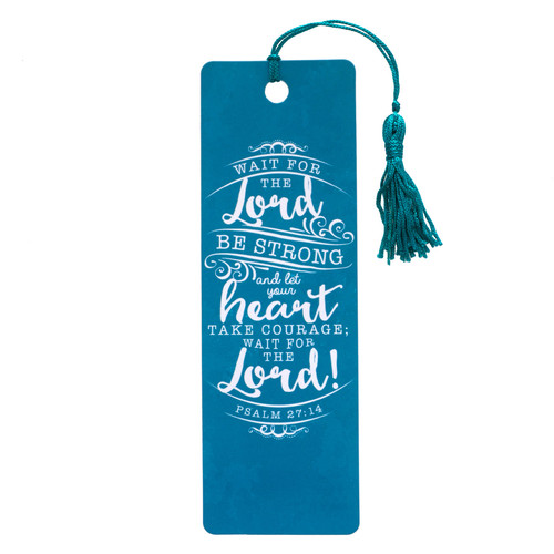 Wait for the Lord Ps 27:14 PVC Bookmark