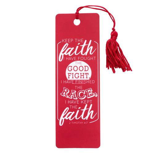 Keep the Faith 2 Tim 4:7 PVC Bookmark