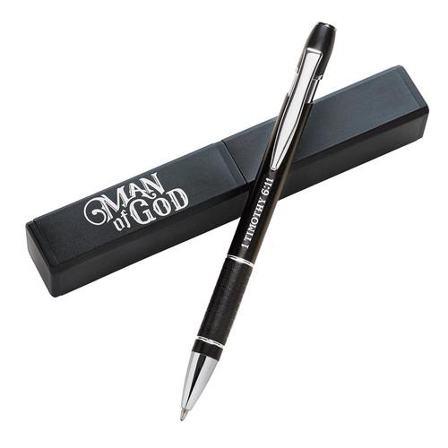 Man of God - 1 Timothy 6:11 Gift Pen