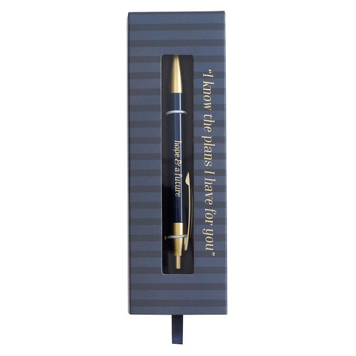 Hope & a Future Classic Pen in Navy - Jeremiah 29:11