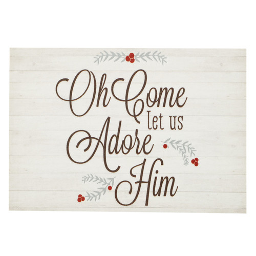 Oh Come Let us Adore Him - Luke 2:14 Christmas Pass Around Card