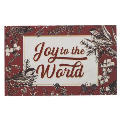 Joy to the World Christmas Pass Around Cards
