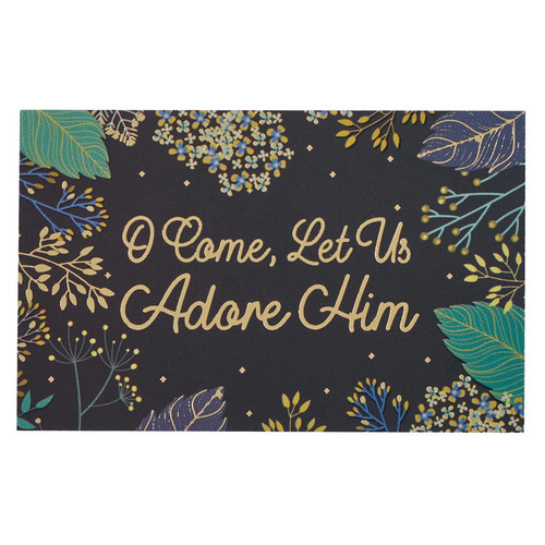 O Come Let us Adore Him Christmas Pass Around Cards - Psalm 95:6