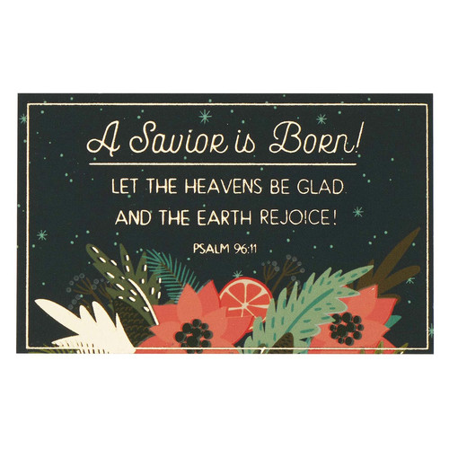 A Savior is Born Christmas Pass-around Card Set - Psalm 96:11