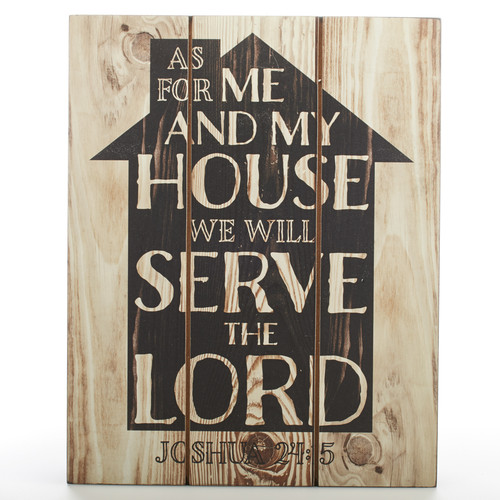 As For Me and My House - Joshua 24:14 Wall Plaque