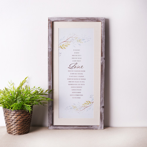 Love is - 1 Corinthians 13 Wall Plaque