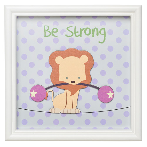 Be Strong Lion, Childrens Wall Art
