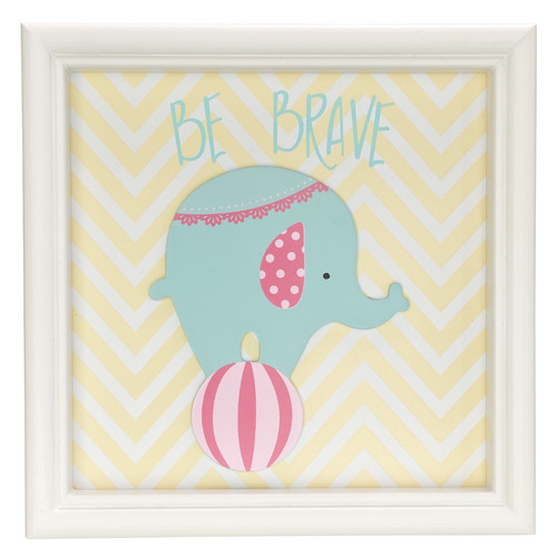 Be Brave Elephant, Childrens Wall Art