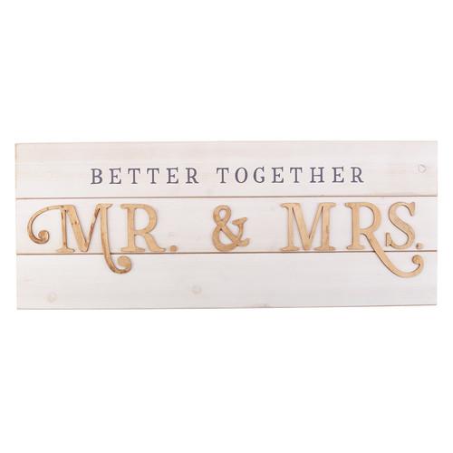 Better Together - Mr. & Mrs. Wall Art