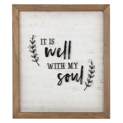 It Is Well With My Soul Wall Plaque