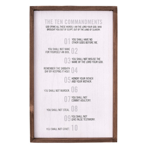 10 Commandments Wall Plaque - Exodus 20:2