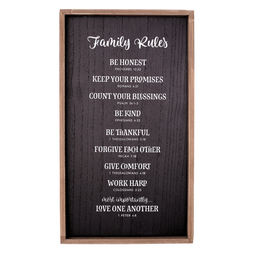 Family Rules Wall Plaque
