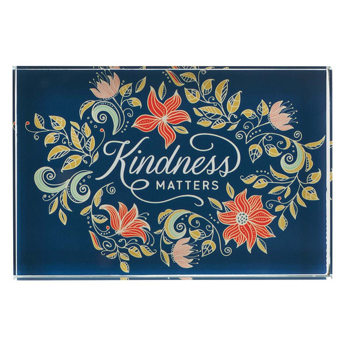 Kindness Matters Glass Plaque