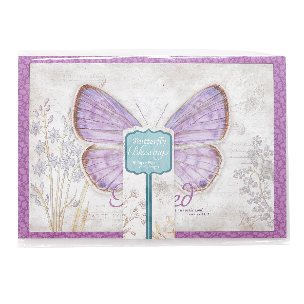 sc 1 st  Christian Art Gifts & Paper Placemats: Butterfly Blessings Set of 20