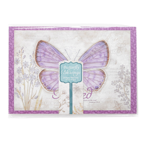 Paper Placemats: Butterfly Blessings Set of 20