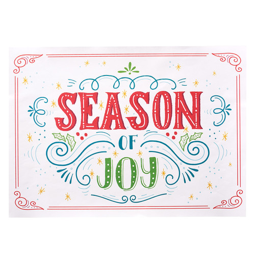 Christmas Paper Placemats: Season of Joy Set of 20