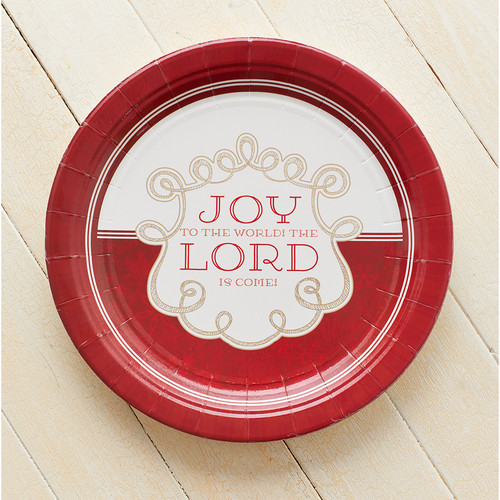 Christmas Paper Plates: Joy To The World Pack of 8