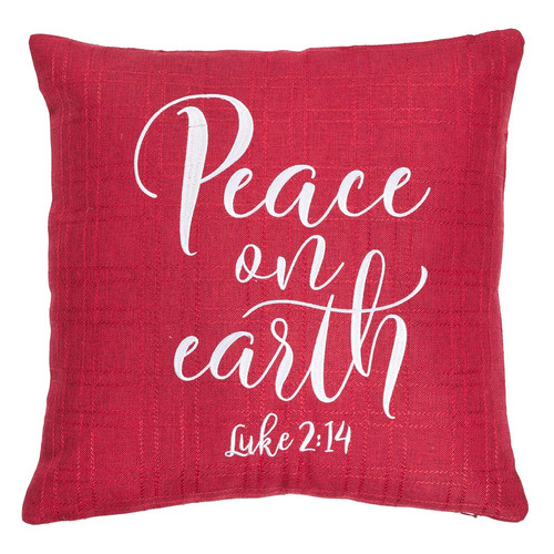 Peace on Earth Christmas Pillow