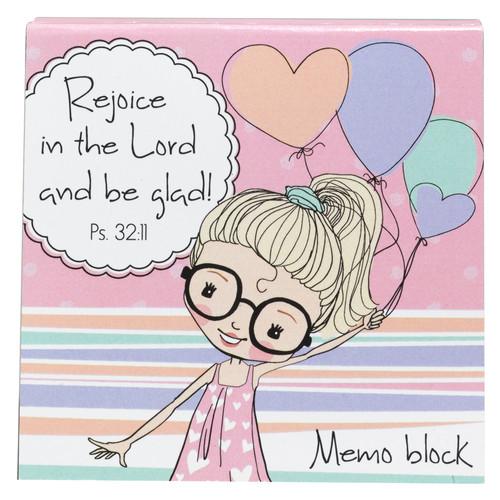 Holly & Hope: Rejoice Memo Block - Ps 32:11