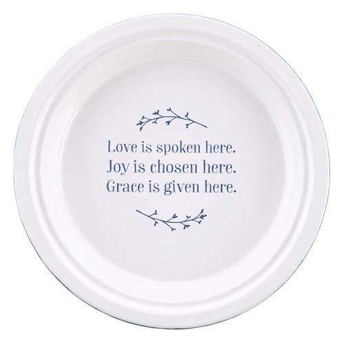 Love Joy Grace Ceramic 9-inch Pie Plate