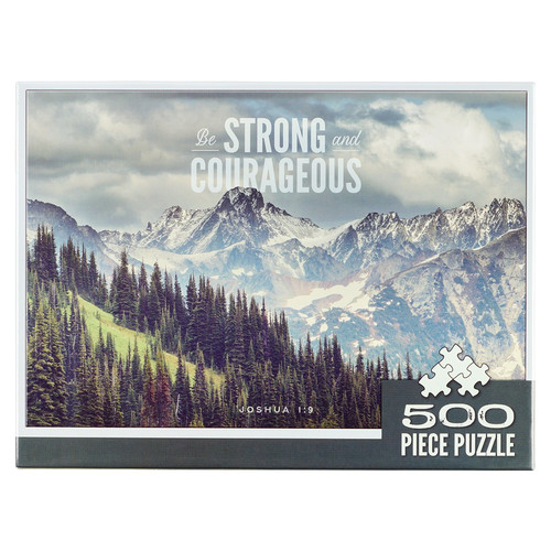 Be Strong & Courageous Pine Valley 500-piece Jigsaw Puzzle - Joshua 1:9