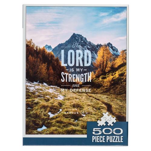 Strength & Defense Mountain Top 500-piece Jigsaw Puzzle - Exodus 15:2