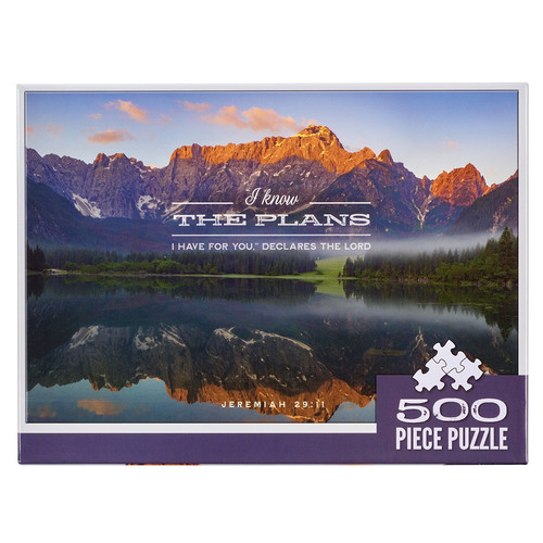 I Know The Plans Grand Tetons 500-piece Jigsaw Puzzle - Jeremiah 29:11