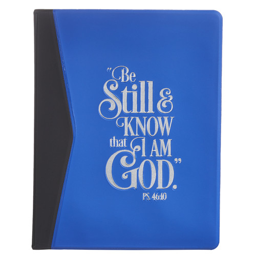 Be Still & Know Soft Vinyl Photo or Card Wallet in Royal Blue - Psalm 46:10