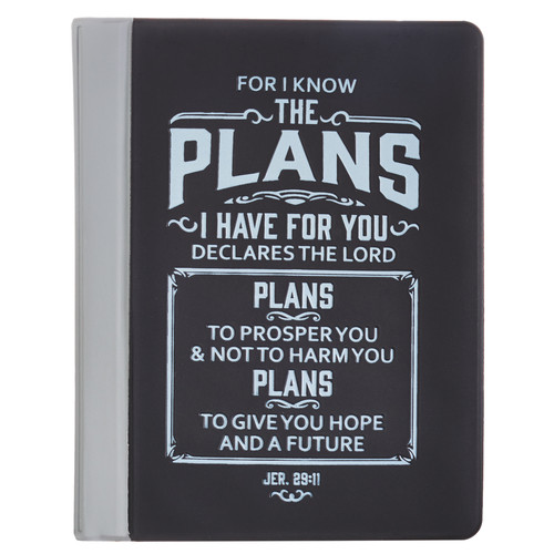 I Know the Plans Soft Vinyl Photo or Card Wallet in Black - Jeremiah 29:11