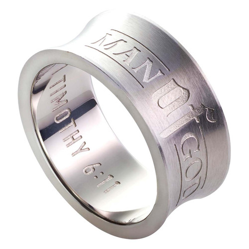 Man of God - 1 Timothy 6:11 Mens Ring